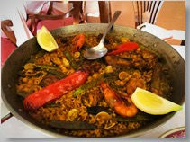 Paella at restaurante Mallol, Altea La Vella