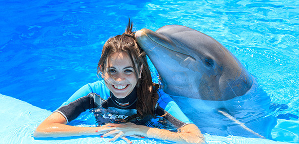 Things to do with kids in Altea - interact with dolphins
