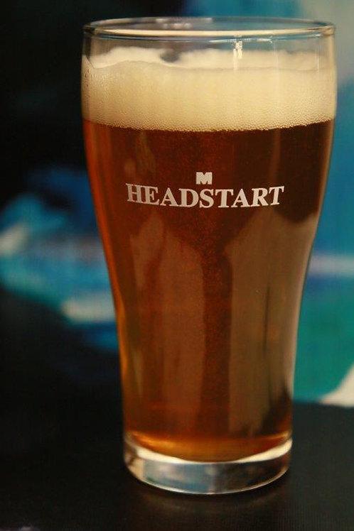 6 Pack Beer Conical Headstart  Schooner Glasses