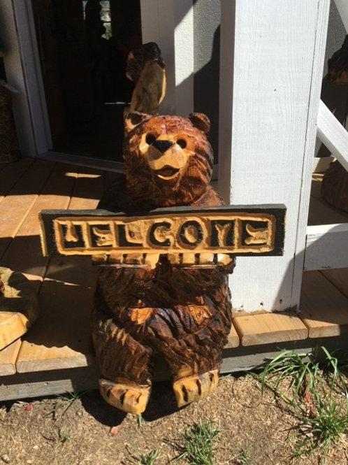 Skylar Sitting Welcome bear
