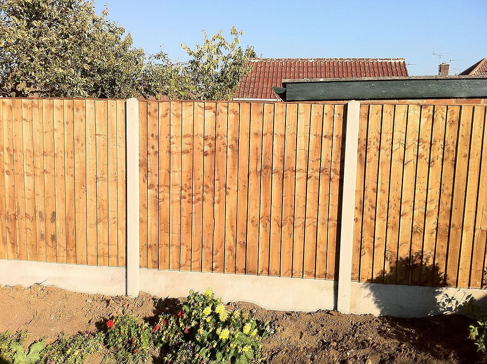 Closeboard Fencing With Concrete Posts & Gravel Boards | Garden Fencing Ideas
