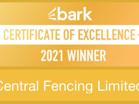Central Fencing Wins Bark Certificate Of Excellence 2021