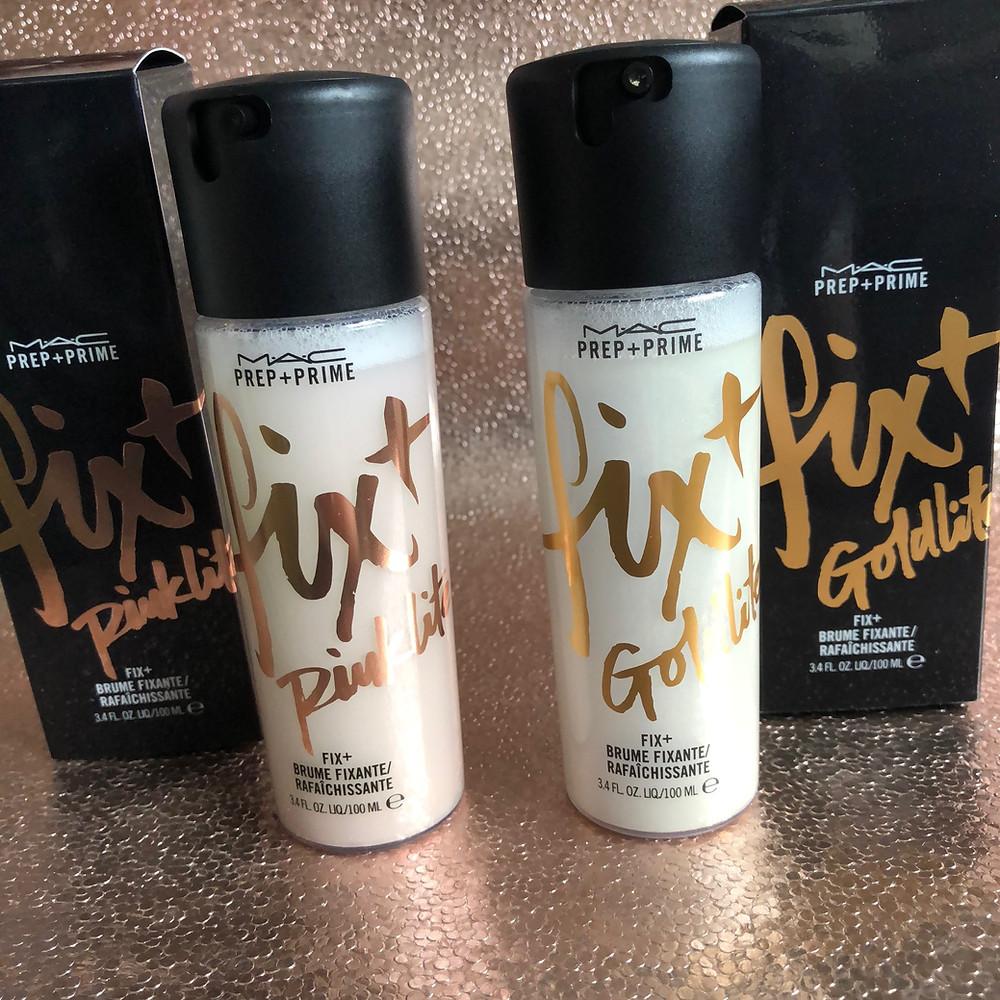 MAC Fix+ Shimmer Goldllite & Pinklite Review | UK Makeup News | FYI Beauty