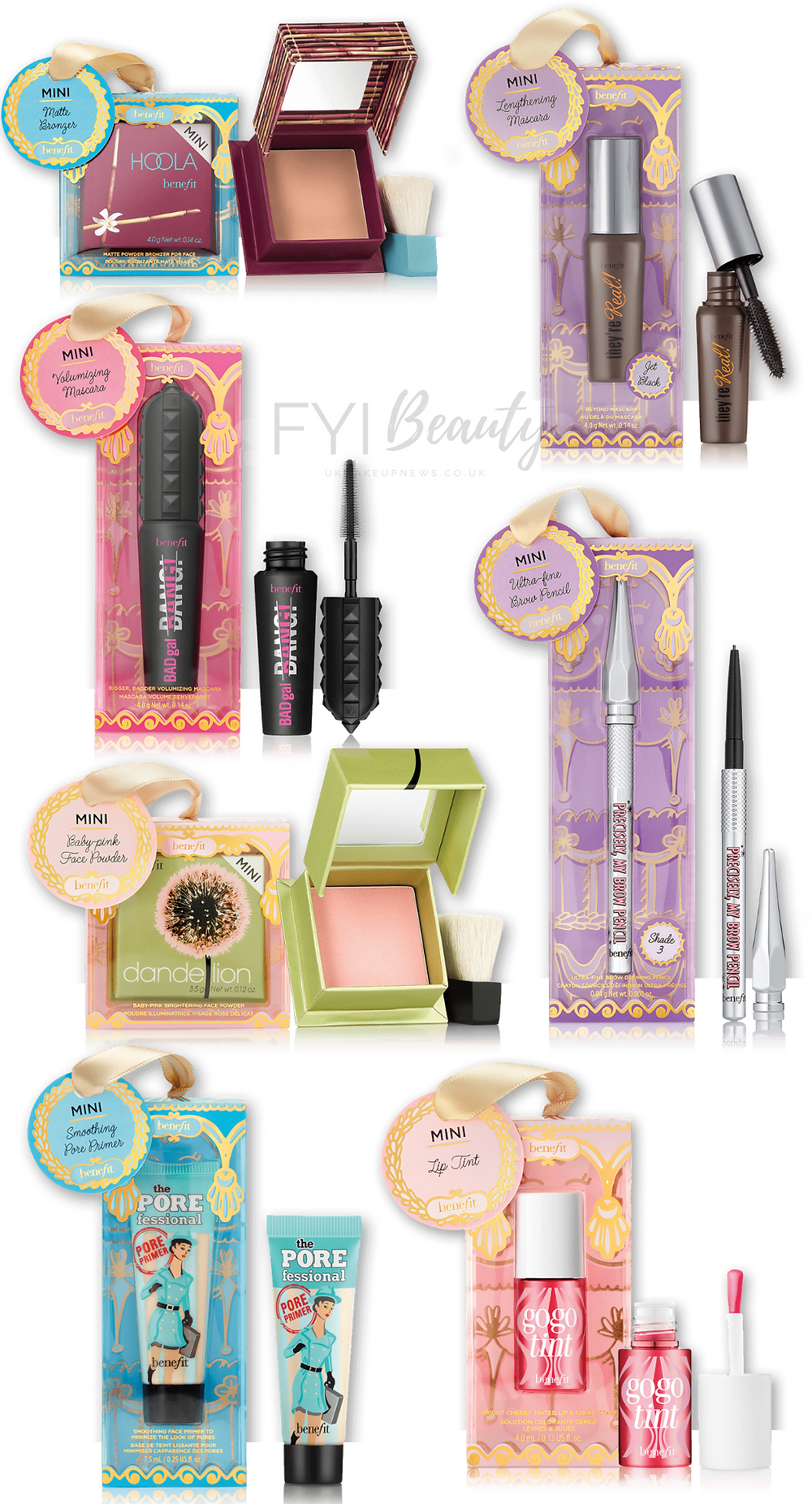 Benefit Cosmetics Mini Stocking Stuffers | UK Makeup News | FYI Beauty