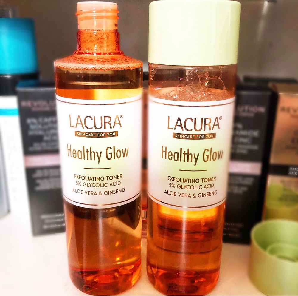 Lacura Healthy Glow Exfoliating Toner Review | UK Makeup News | FYI Beauty