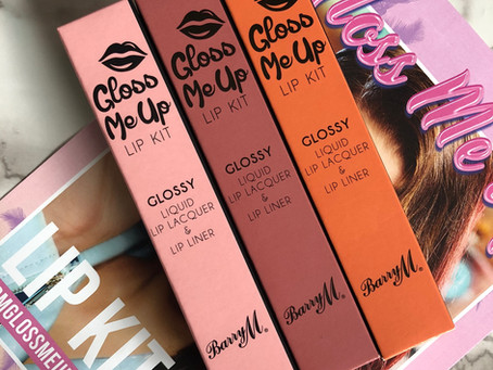 Barry M Gloss Me Up Lip Kit Swatches & Review
