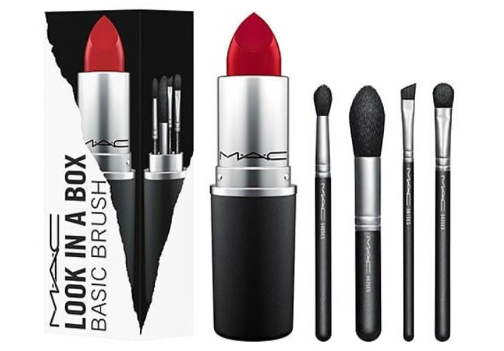 MAC Basic Brush Set Giant MAC Lipstick UK | UK Makeup News | FYI Beauty
