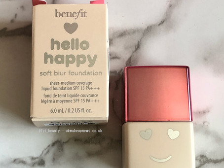 Benefit Hello Happy Soft Blur Foundation Review + Swatches