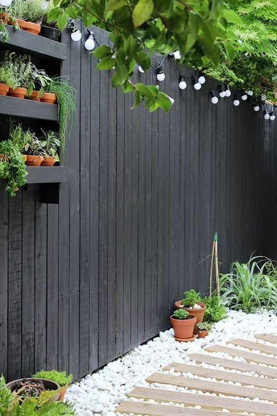 Garden Fencing Ideas | Closeboard Fencing Painted Urban Deep Grey