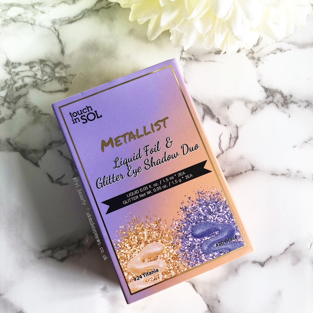 Touch In Sol Metallist Liquid Foil & Glitter Eyeshadow Duo Mini Kit   UK Makeup News   FYI Beauty