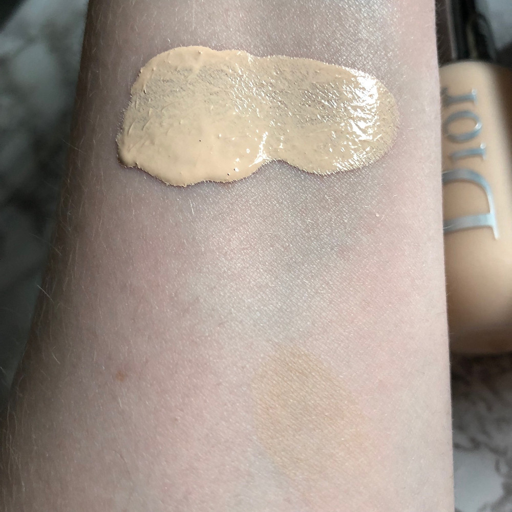 Dior Backstage Face & Body Foundation 0N Swatch   UK Makeup News   FYI Beauty