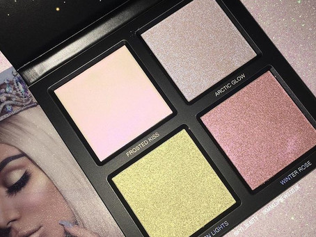 Huda Beauty Winter Solstice Highlighter Palette Review + Swatches