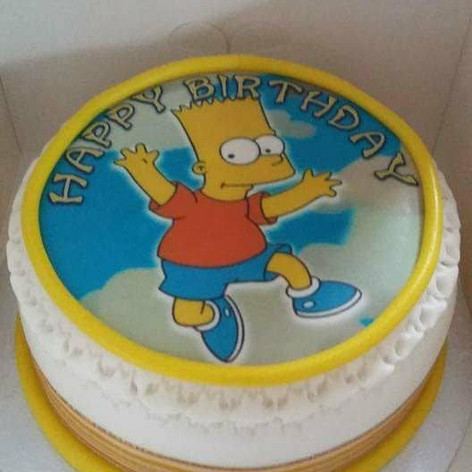 Bart Simpson Cake