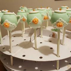 Cake pops - teapot