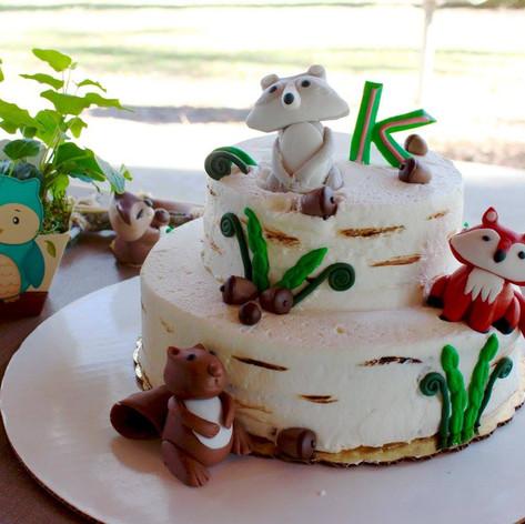 Forest Animals Cake