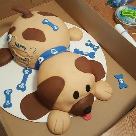 Puppy Dog Birthday Cakes