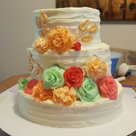 Tier Flower Cake