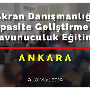 Akran Danışmanlığı Eğitimini Ankara'da  Gerçekleştirdik