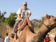 Me, on a camel in India.