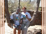Swinging at Baobab Lodge.