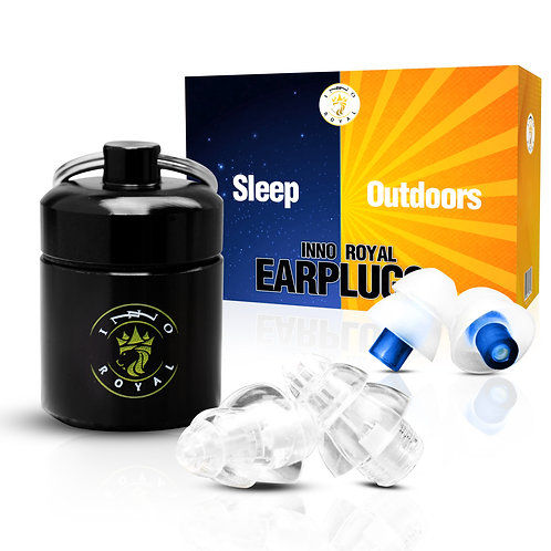 DELUXE Noise Reduction Earplugs for Sleeping, Concerts, Airplanes & More! 28dB
