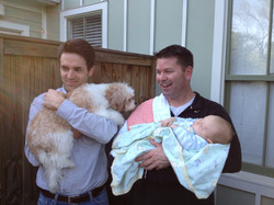 Ryan and Brian with their babies