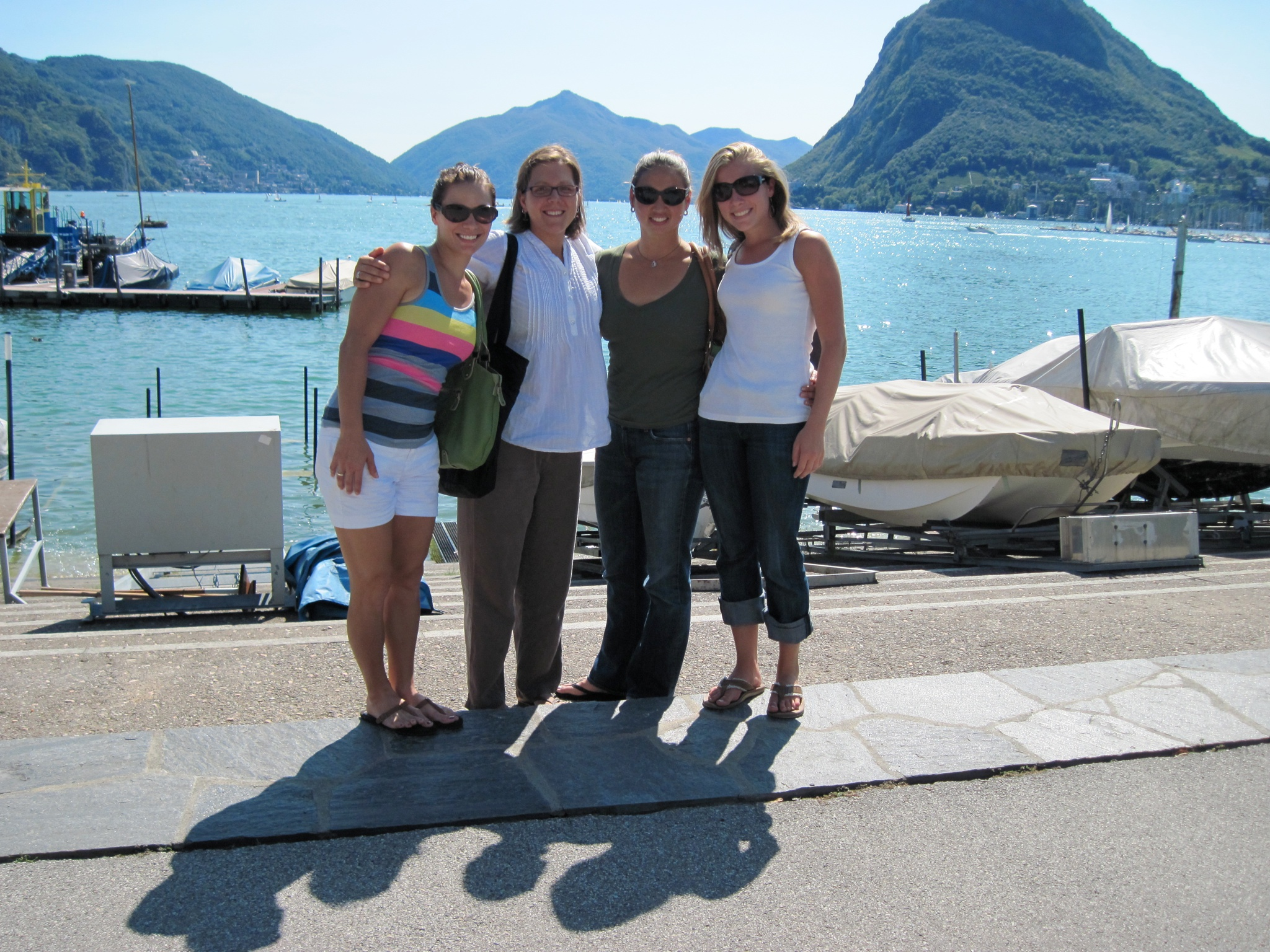Lunch on Lake Lugano