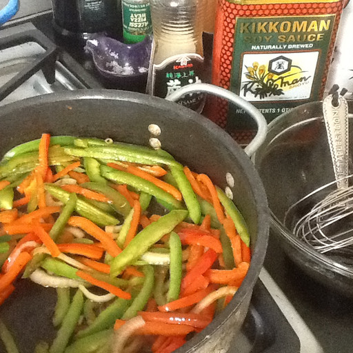 Peppers in Soy and Sesame Oil