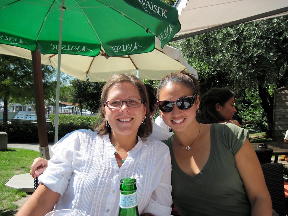 Betta and I on Lake Lugano