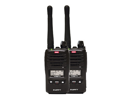 GME TX677TP      2 Watt Radio - Twin pack