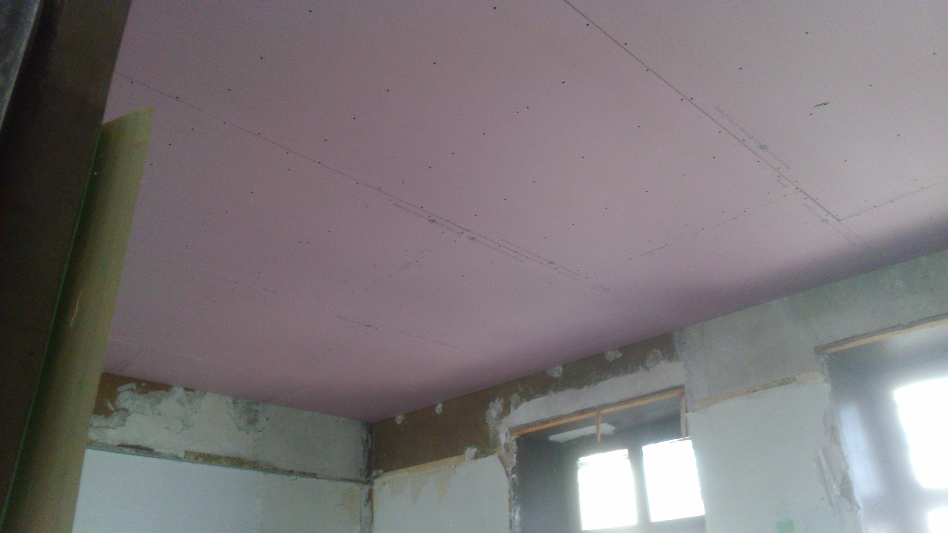 Faux plafond en plaque de plâtre