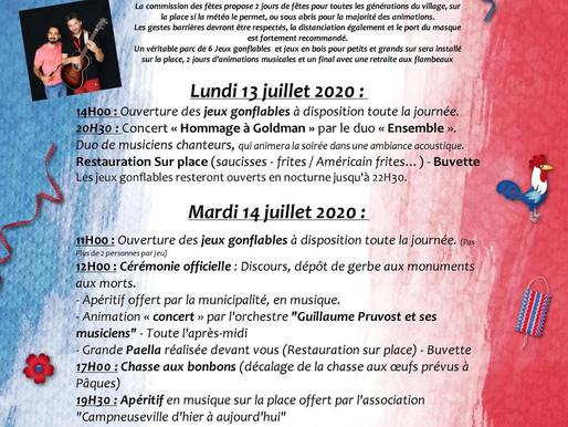Fête du 14 juillet 2020