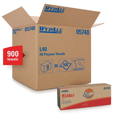 Wypall KC 05740 L40 Blue Cleaning Cloths, Pop-Up Box