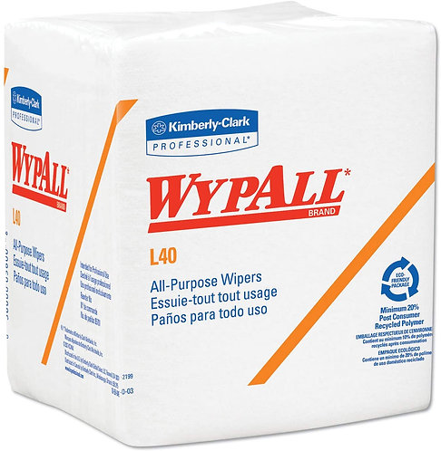 KC 05701 Wypall L40 Wipers, White, 1/4 Fold, 18 packs of 56 wipers
