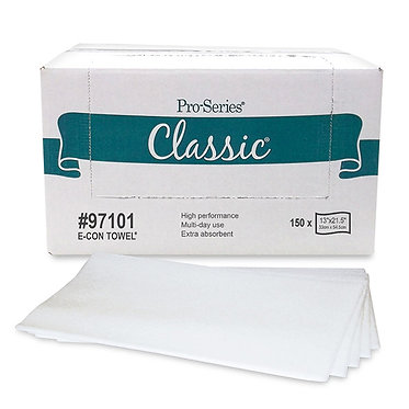 MDI 97101 Foodservice E-CON Cleaning Cloths, 13x21.5, 150 ct, 1/4 Fold