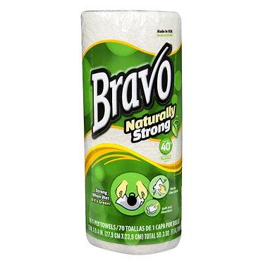 Sellars 54480 Bravo Natural Shop Towel Roll, 30/cs
