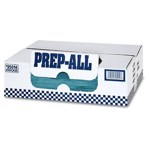 MDI 95014 Prep-All Blue Spunlace Shop Towels, 12x14, 250 ct, Flat
