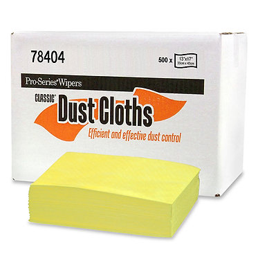 MDI 78404 Classic Yellow Treated Dust Cloths, 13x17, 10/50, 1/4 Fold