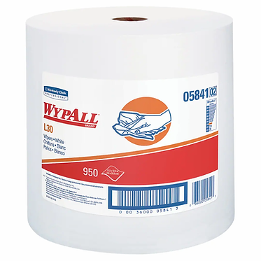 Wypall KC 05841 L30 Jumbo Roll Cleaning Cloths, White