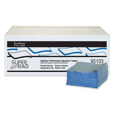MDI 95103 Super Spunlace Blue Cleaning Rags, 12x13, 500 ct, 1/4 Fold