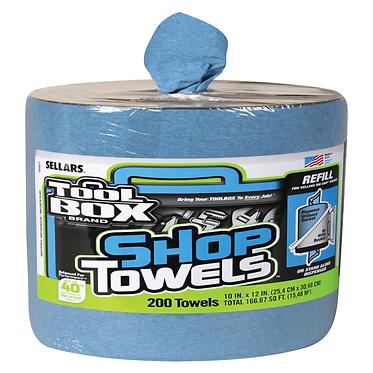 Sellars 55207 Big Grip Blue Shop Towel, Blue, 10x12, 200/rl
