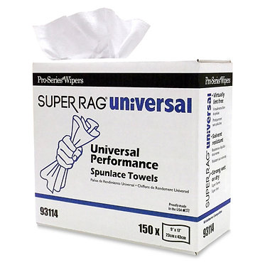 MDI 93114 Super Spunlace Universal Cleaning Rags, 9x17, 150 rags/box