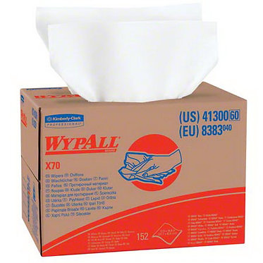 Wypall KC 41300 X70 Cleaning Cloths, White, Brag Box