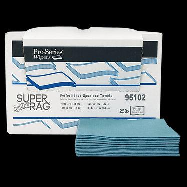 MDI 95102 Super Spunlace Blue Cleaning Rags, 13x16, 250 ct, 1/4 Fold