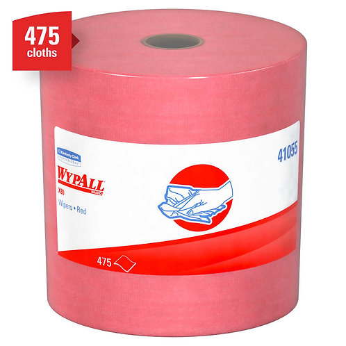 Wypall KC 41055 X80 Extended Use Roll Cleaning Cloths, Red, Jumbo Roll