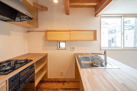 キッチン オリジナルキッチン 家具職人 家具 造作家具 木カウンター 木造住宅