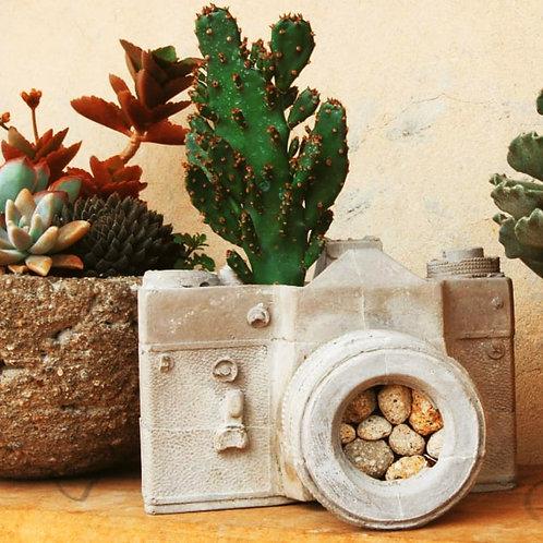 Planter Camera, Photographer Gift, Flowerpot, Organizer, Vase, Pot