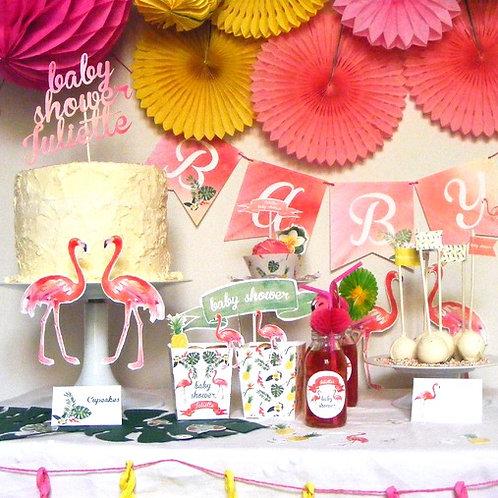 Kit decoración fiesta tropical