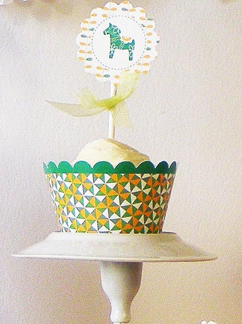 Pour décorer facilement et rapidement vos cupcakes de fêtes