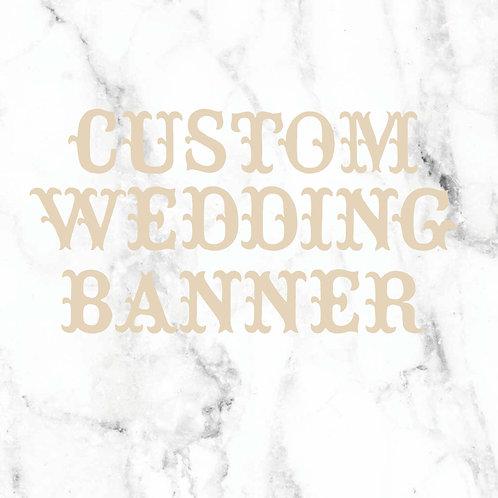 Guirnalda de boda personalizada